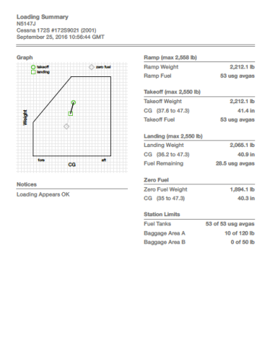 Weight & Balance in Foreflight on iPad