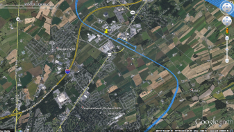 GPS Track in Google Earth of pattern work.