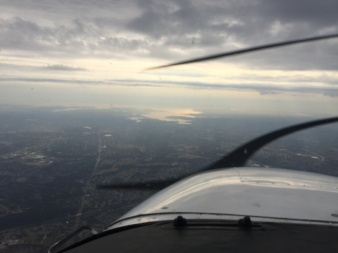 Nearing the eastern shore