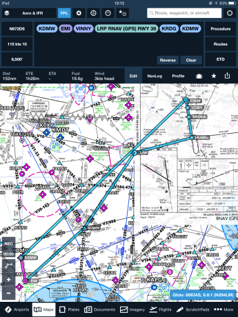 IFR Low Chart & Route